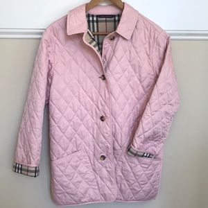 Burberry Quilted Jacket Blush Light Pink